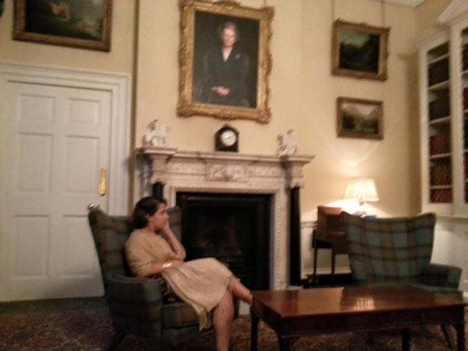 Thatcher's office, complete with creepy painting and my (not creepy) fiancee Thais.