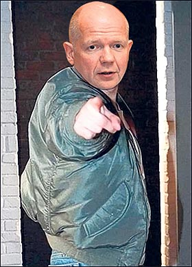 William Hague, as mocked up by The Sun. Bald, but not a Nazi.